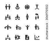 business icons set vector | Shutterstock .eps vector #306970502