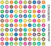 e commerce 100 icons universal... | Shutterstock .eps vector #306983462