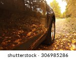 fragment the car in the autumn...