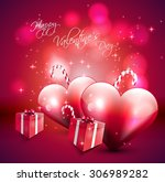 surface romantic love heart... | Shutterstock . vector #306989282