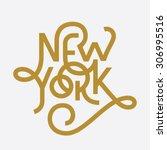 vintage hand lettered textured... | Shutterstock .eps vector #306995516