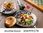 salad with mushrooms   soup | Shutterstock . vector #306999278