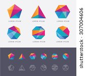 Abstract Multicolored Geometri...