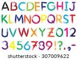 font. alphabet.  4. letters a z ... | Shutterstock .eps vector #307009622
