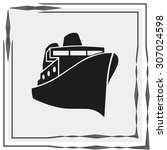 ship sign icon  vector icon | Shutterstock .eps vector #307024598