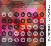 shop modern icons for mobile...   Shutterstock .eps vector #307024622