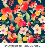 seamless pattern with beautiful ... | Shutterstock . vector #307027052