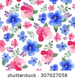 seamless pattern with beautiful ... | Shutterstock . vector #307027058
