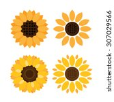 Colorful Sunflower Vector Icon...