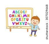 abc for kids art alphabet... | Shutterstock .eps vector #307029668