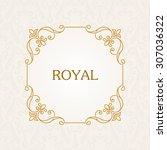calligraphic frame. vector... | Shutterstock .eps vector #307036322