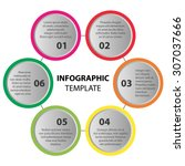 infographic template. 6 steps ... | Shutterstock .eps vector #307037666
