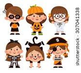 Set Of Cartoon Characters For...