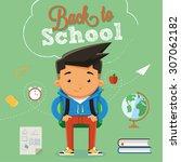 back to school character design ...   Shutterstock .eps vector #307062182