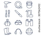 set of line icons for diy ... | Shutterstock .eps vector #307062452