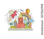 vector imagination concept  ... | Shutterstock .eps vector #307062998