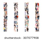 many colleagues office culture  | Shutterstock . vector #307077908