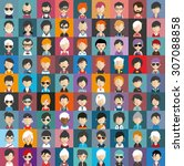 collection of avatars21   81... | Shutterstock .eps vector #307088858
