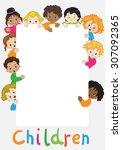 children of the world | Shutterstock .eps vector #307092365