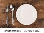 Empty White Plate With...