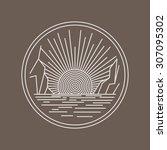 Outline Circle Logo Brand...