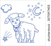 cartoon children illustration... | Shutterstock .eps vector #307097405
