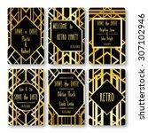 set of vector card templates in ... | Shutterstock .eps vector #307102946
