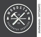 vintage carpentry and mechanic... | Shutterstock .eps vector #307106492