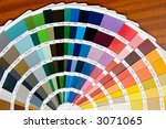 a photo of a fan of colors in... | Shutterstock . vector #3071065