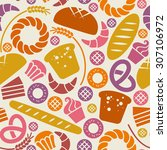 food bakery seamless pattern... | Shutterstock . vector #307106972