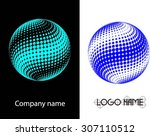abstract logo design.logo... | Shutterstock .eps vector #307110512