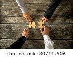 four successful business men... | Shutterstock . vector #307115906