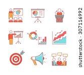 business presentation ... | Shutterstock .eps vector #307116992