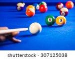 Billiard Balls In A Blue Pool...