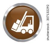 brown circle metallic forklift... | Shutterstock . vector #307132292