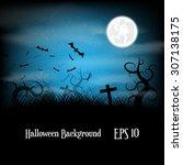 halloween background | Shutterstock .eps vector #307138175