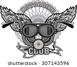 vintage motorcycle label | Shutterstock .eps vector #307143596
