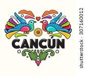 Cancun Amate Heart Print  ...