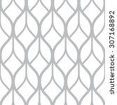 vector seamless monochrome... | Shutterstock .eps vector #307168892
