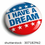 i have a dream campaign badge... | Shutterstock . vector #307182962