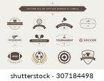 set of vintage  sport badges...   Shutterstock .eps vector #307184498
