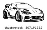 vector   sport car   isolated... | Shutterstock .eps vector #307191332