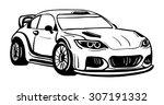 vector   sport car   isolated... | Shutterstock .eps vector #307191332