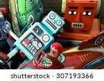 box of old toys   Shutterstock . vector #307193366