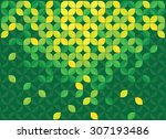 leaves green abstract background | Shutterstock .eps vector #307193486