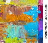 colorful oil paint thick ...   Shutterstock . vector #307216388