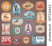 collection of vector labels... | Shutterstock .eps vector #307226612