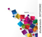 overlapping squares with... | Shutterstock .eps vector #307240382