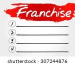 franchise blank list  business... | Shutterstock .eps vector #307244876