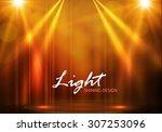 spotlights   empty scene.... | Shutterstock .eps vector #307253096